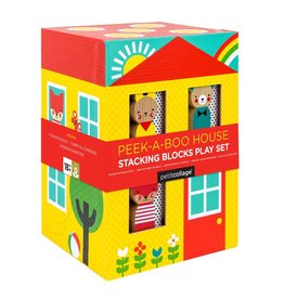 Wild & Wolf Peek-A-Boo House Stacking Blocks