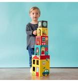 Petit Collage Peek-A-Boo House Stacking Blocks