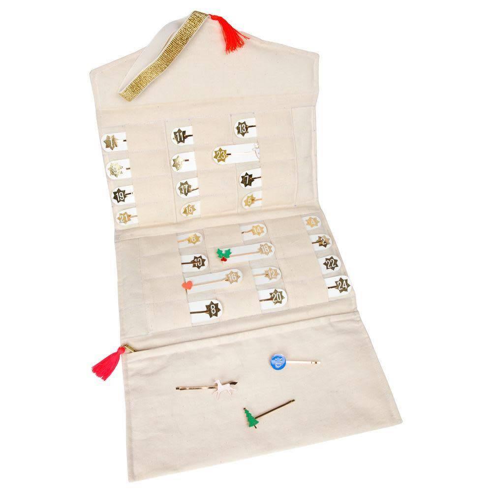 Meri Meri Advent Hair Clip Calendar Jewelry Roll