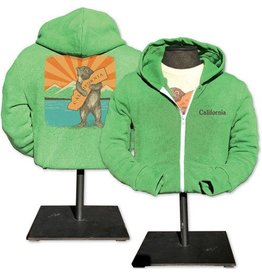 SF Mercantile CA Mountain Bear Zip Hoodie