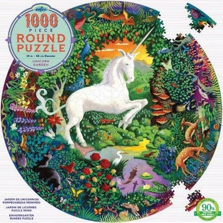 eeBoo Unicorn Garden Puzzle - 1000 Piece