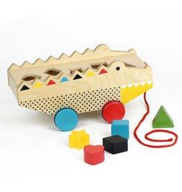 Petit Collage Alligator Wood Shape Sorter & Pull Toy