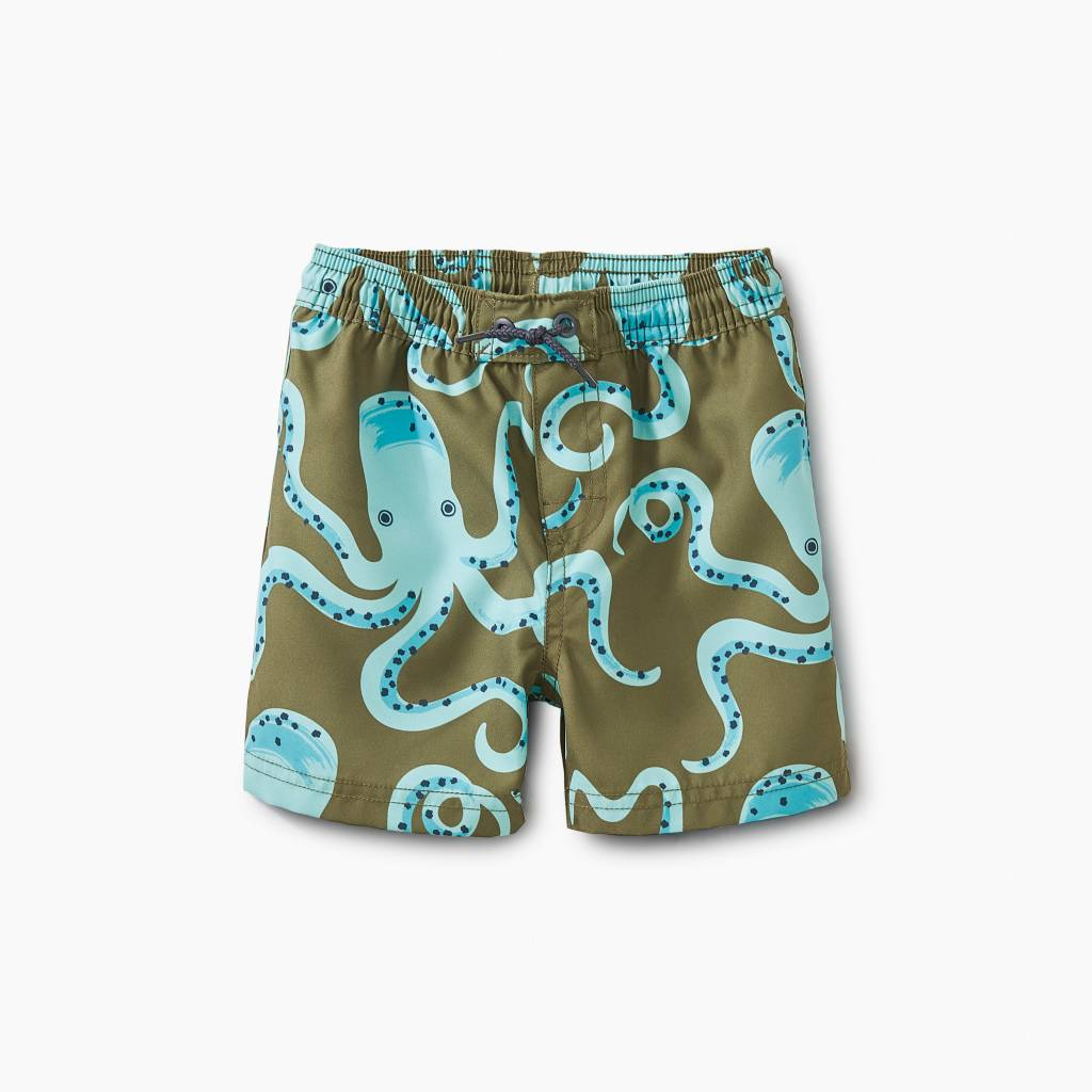Tea Collection Get A Grip Baby Swim Trunks