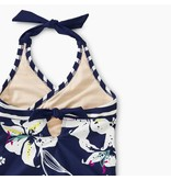 Tea Collection Tropical Lillies Halter Swimsuit