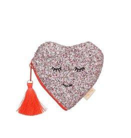 Meri Meri Glitter Heart Coin Purse