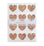 Meri Meri Glitter Heart Sticker Sheet