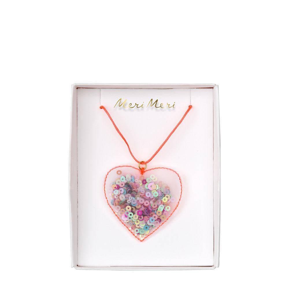 Meri Meri Heart Shaker Necklace