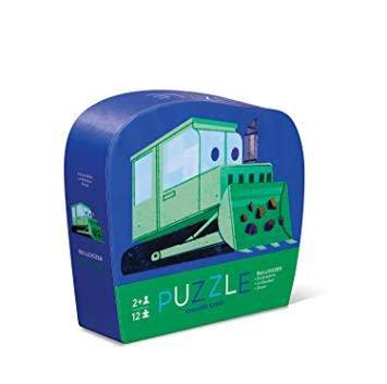 Crocodile Creek Little Bulldozer Mini Puzzle 12 pc