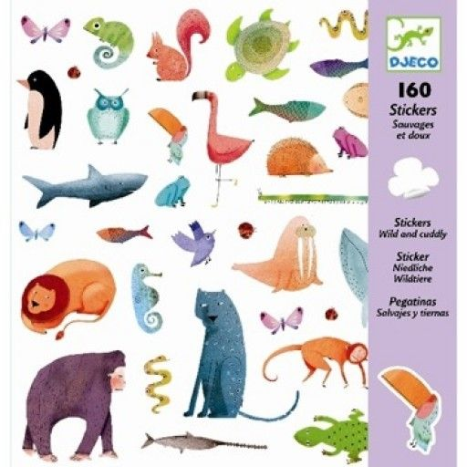 Djeco (Hotaling Imports) Stickers - Wild and Cuddly