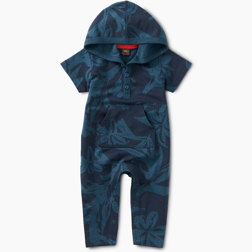 Tea Collection Sea Flora Hoodie Romper