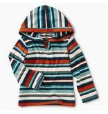 Tea Collection Poseidon Striped Baby Happy Hoodie