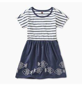Tea Collection Geo Fish Twirl Dress