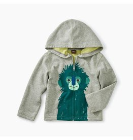 Tea Collection Langur Zip Baby Hoodie