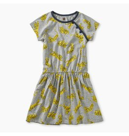 Tea Collection Tossed Tigers Raglan Dress