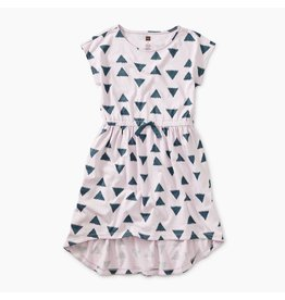 Tea Collection Verbena Hi-Lo Tie Waist Dress