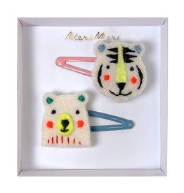 Meri Meri Bear & Tiger Hair Clips