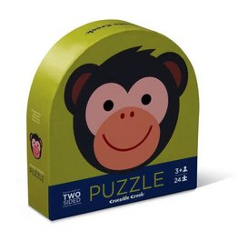 Crocodile Creek Monkey Friends - Two-Sided 24 Pc Puzzle