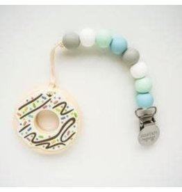 Loulou Lollipop Donut Teether w/Clip Mint