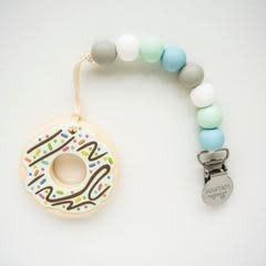 Loulou Lollipop Donut Teether w/Clip Mint