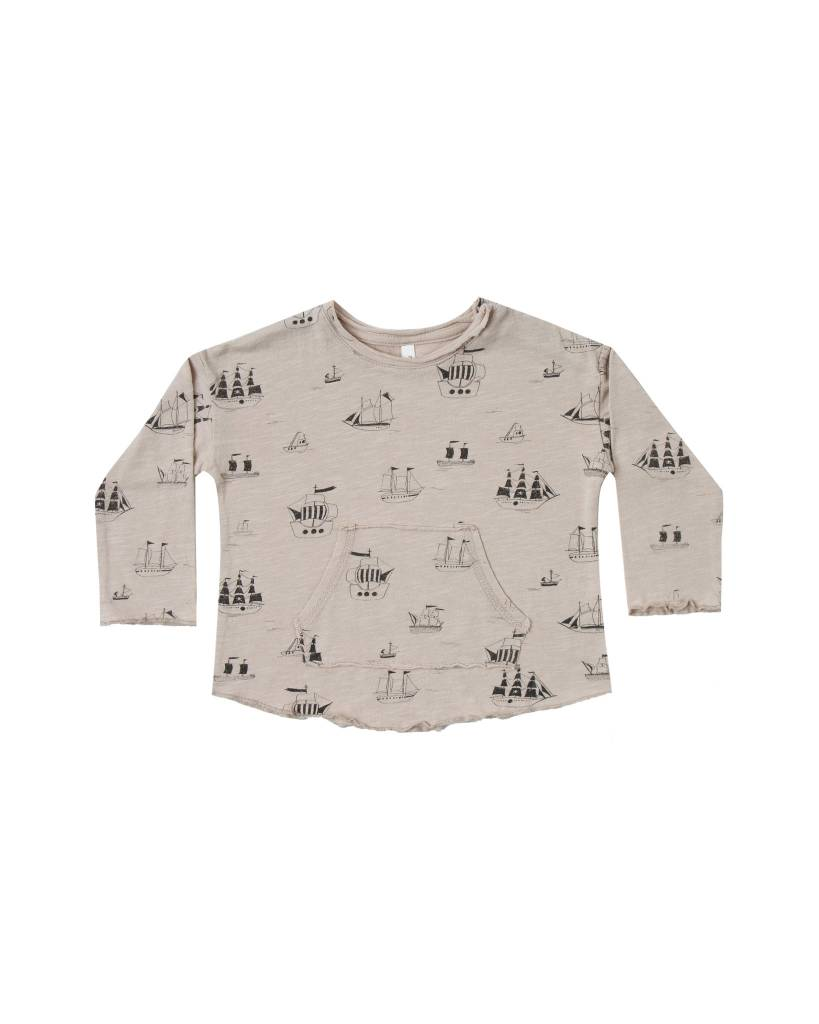 Rylee & Cru Baby Ships Pouch Tee