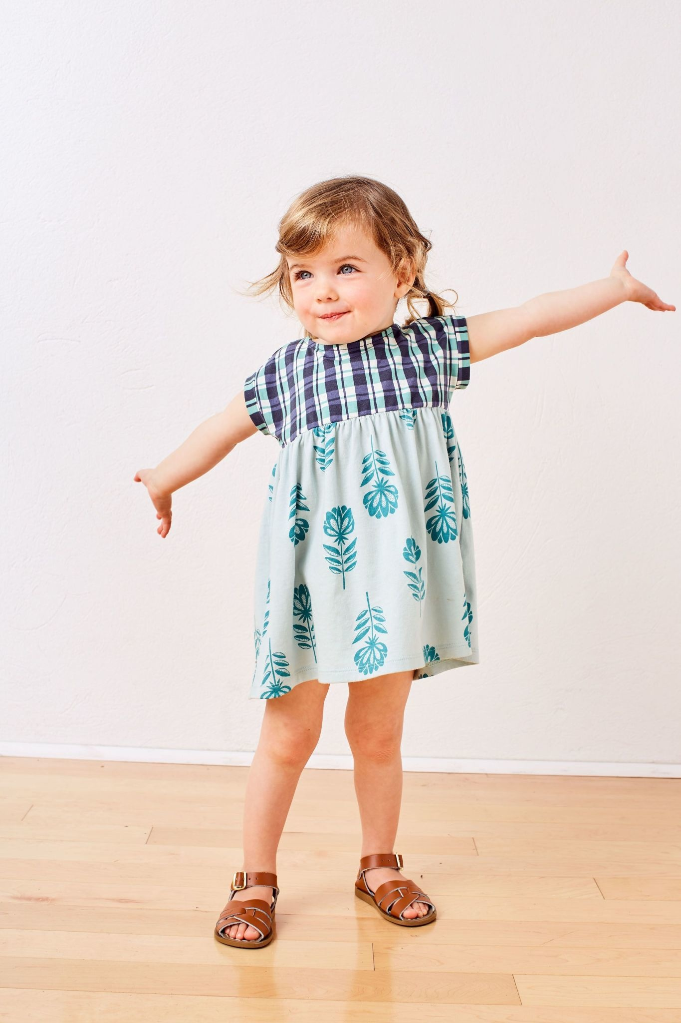 Tea Collection Stacked Floral Empire Baby Dress