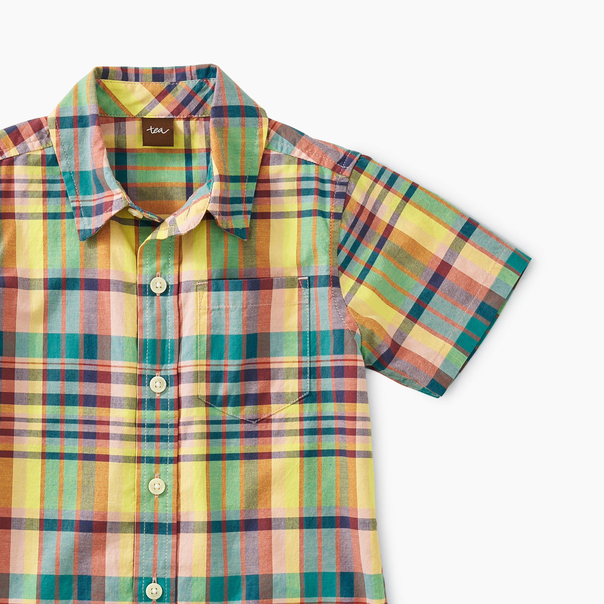 Tea Collection Madras Woven Shirt