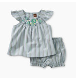 Tea Collection Dusty Woven Flutter Sleeve Baby Set
