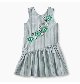 Tea Collection Dusty Blue Skirted Dress