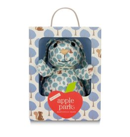Apple Park Patterned Bunny- Blue Forest