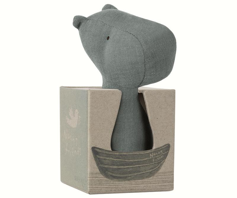 Maileg Hippo Rattle - Noah's Friends