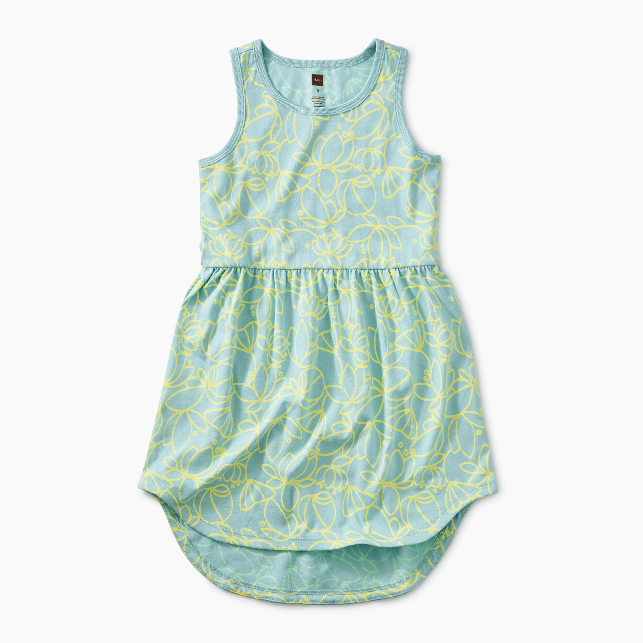 Tea Collection Pop Lotus Skirted Tank Dress