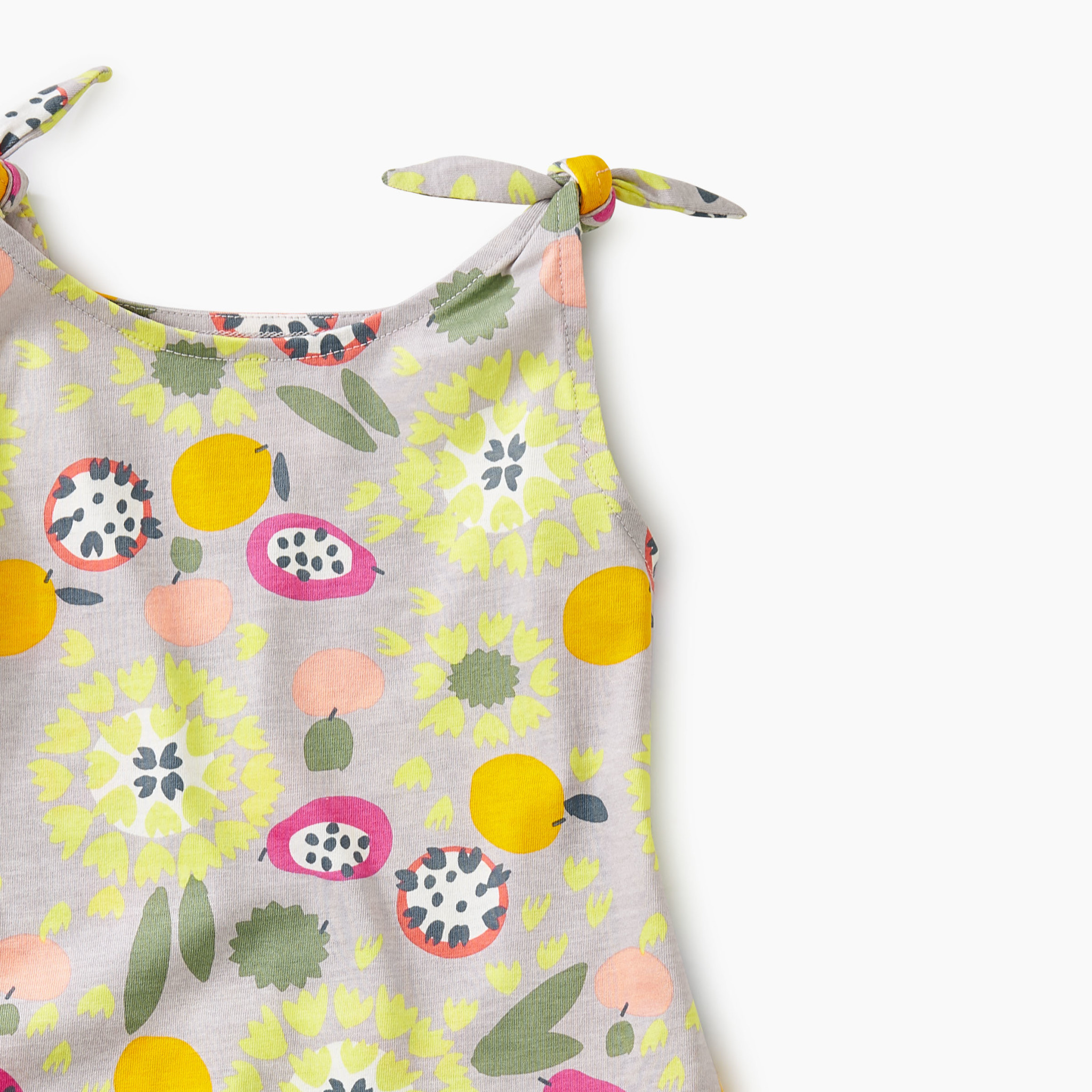 Tea Collection Fruit Floral Tie Shoulder Dress