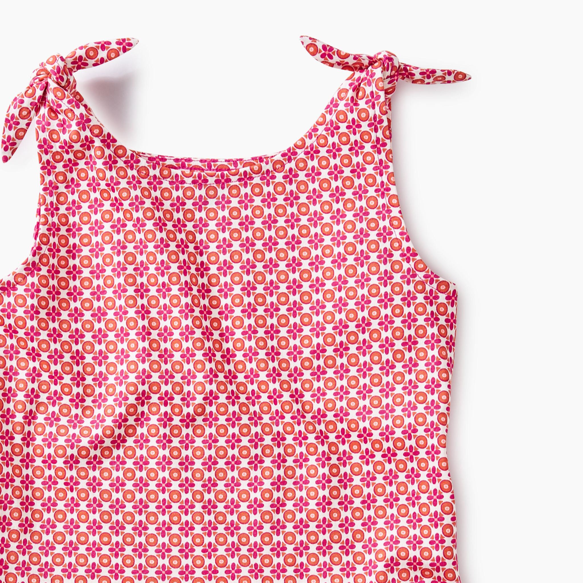 Tea Collection Floral Geo Tie Shoulder Dress