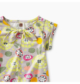 Tea Collection Fruit Floral Knotted Baby Top