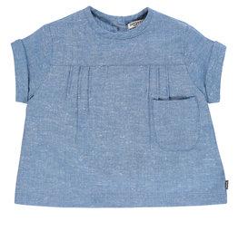 Imps & Elfs Short Sleeve Tunic - Blue Chambray