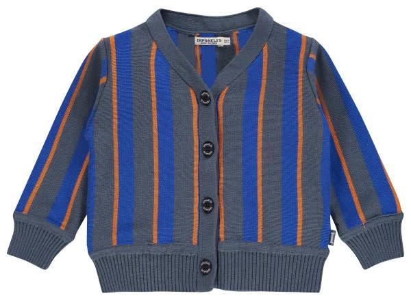 Imps & Elfs Cardigan - Caramel Blue Stripe