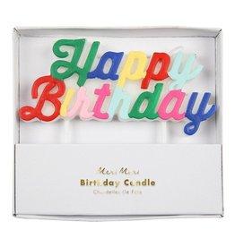 Meri Meri Happy Birthday Candles
