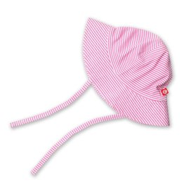 Zutano Candy Stripe Sun Hat - Hot Pink