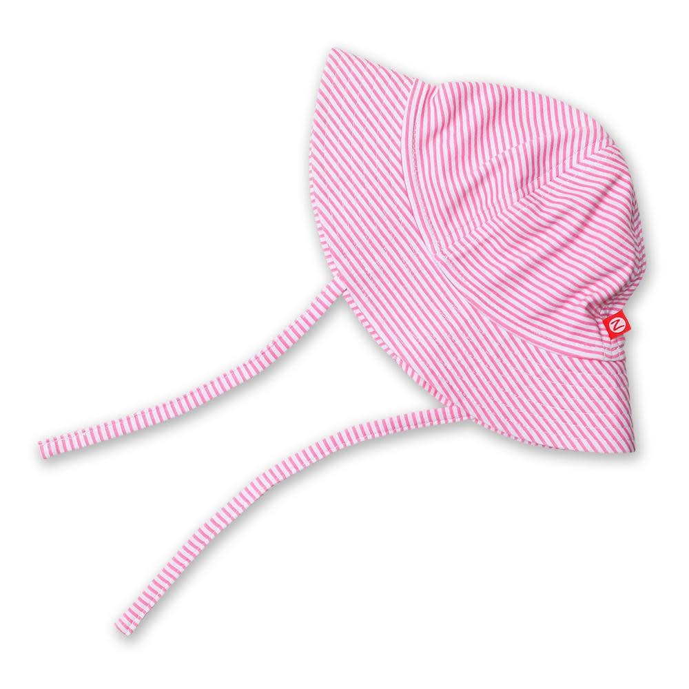 Zutano Candy Stripe Sun Hat - Hot Pink