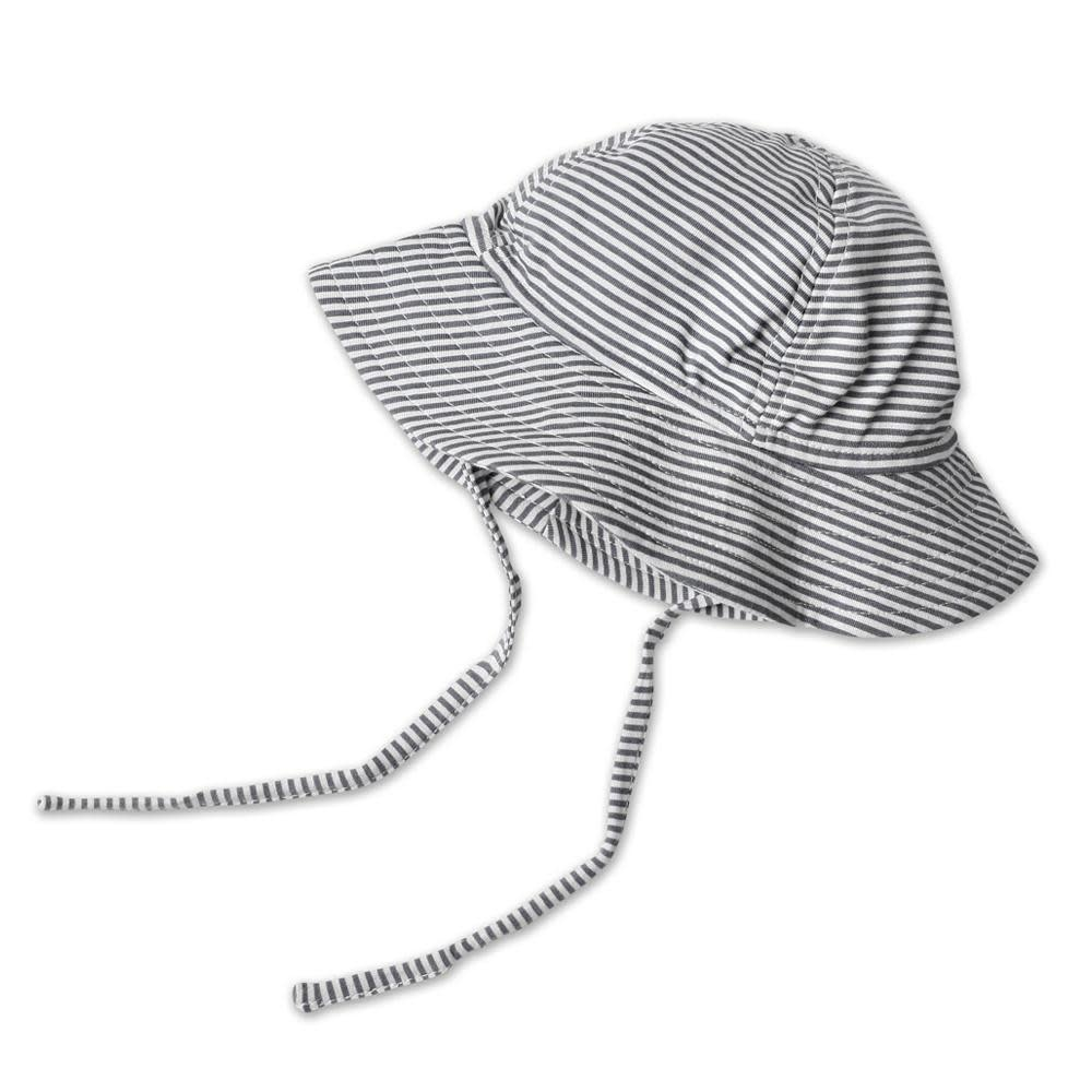 Zutano Candy Stripe Sun Hat - Black
