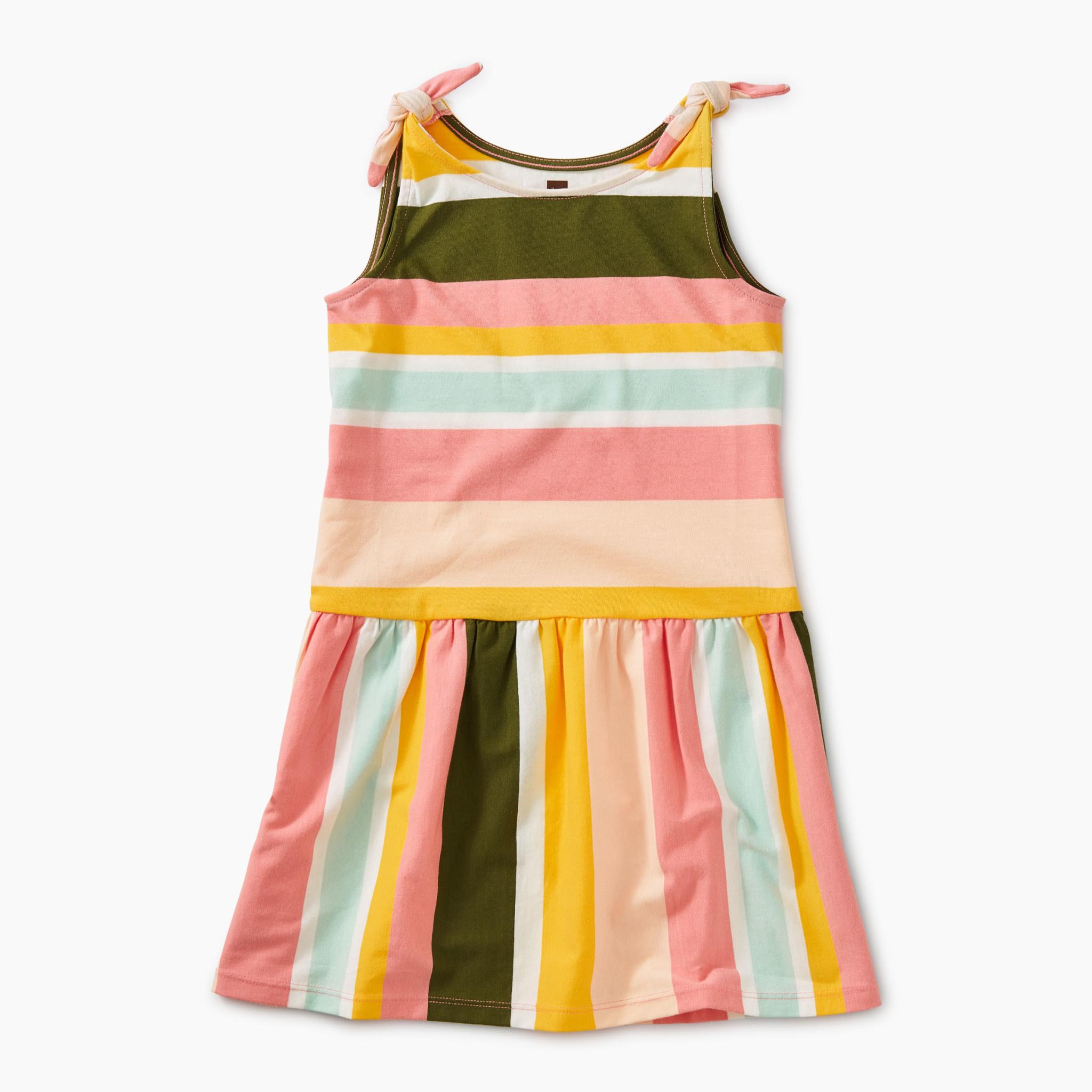 Tea Collection Bubble Gum Tie Shoulder Dress