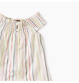 Tea Collection Stripe Smocked Romper Dress