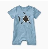 Tea Collection Shark Blue Tide Romper