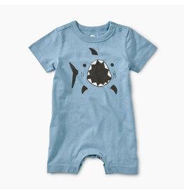 Tea Collection Shark Blue Tide Romper