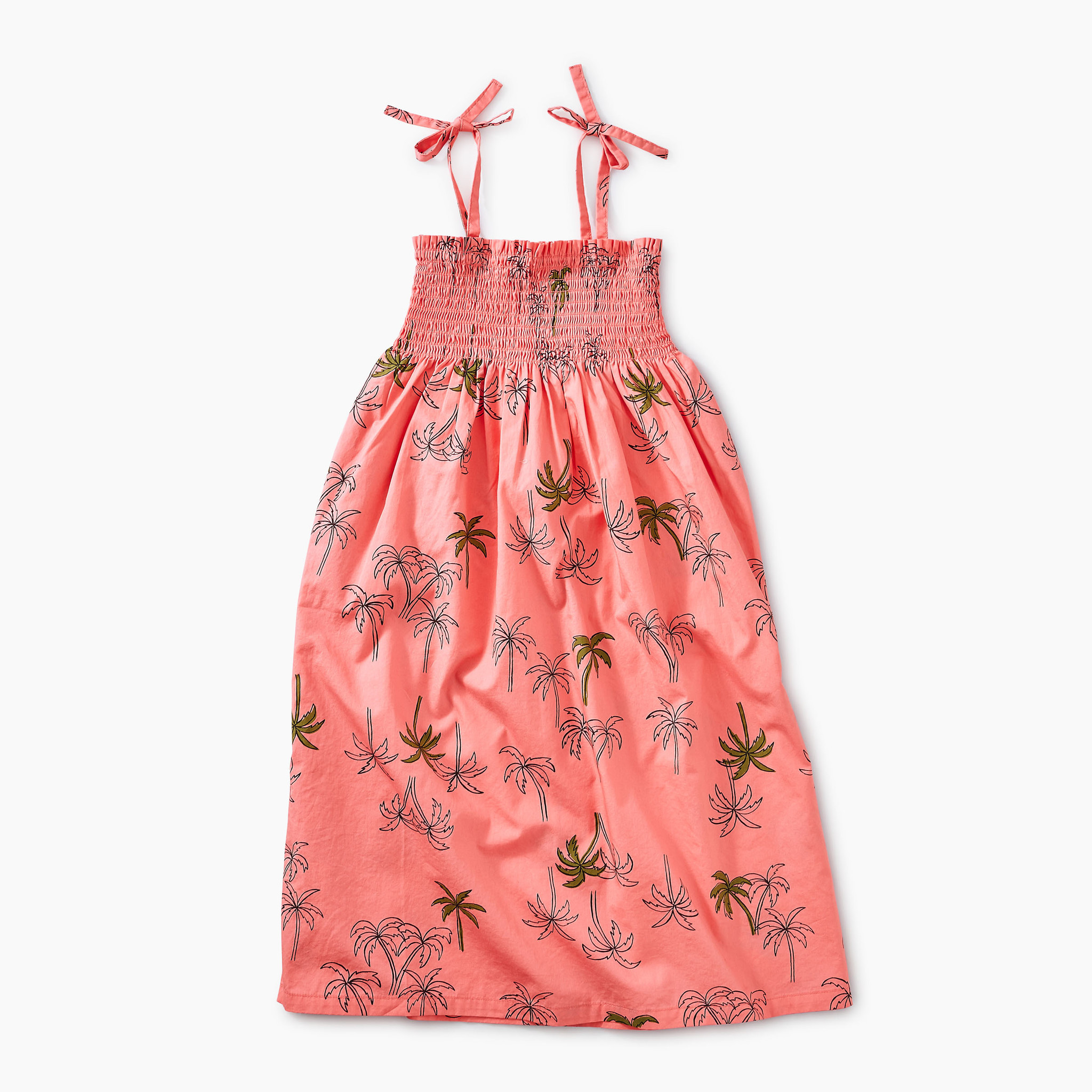 Tea Collection Pop Palm Trees Midi-Length Dress
