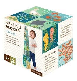 Petit Collage Nesting Blocks - Ocean