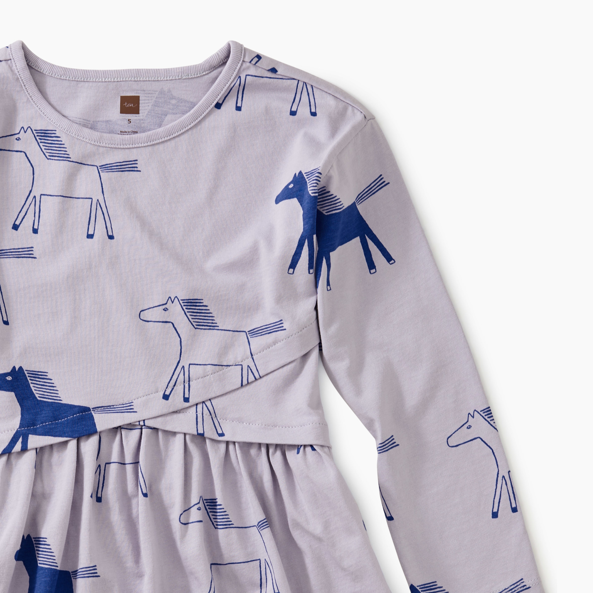Tea Collection Highland Horses Wrap Dress