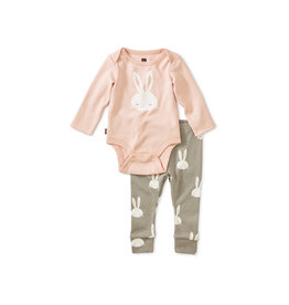 Tea Collection Bunnies Bodysuit Baby Outfit