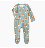 Tea Collection Footed Romper-Foxes