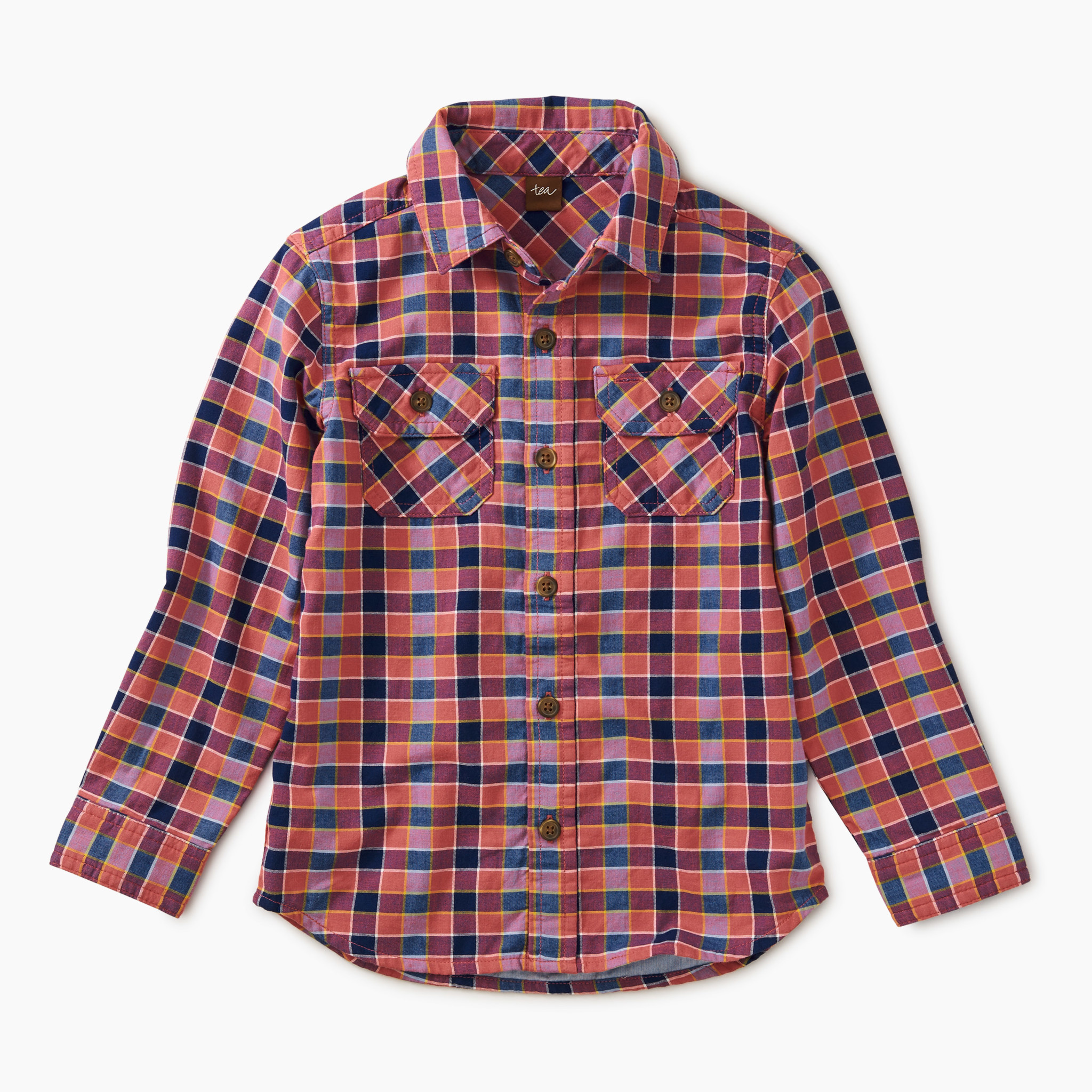 Tea Collection Plaid Button up-Bhutan